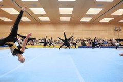 2000-TSZ Dornbirn Juniorinnen in Aktion Boden