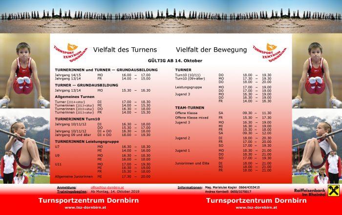 Turnsportzentrum Dornbirn 2019 2020